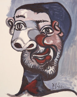 Tete De Homme, 13-C  Limited Edition Print by  Picasso Estate Signed Editions