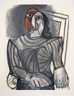 Femme Assise a La Robe Grise Limited Edition Print by  Picasso Estate Signed Editions