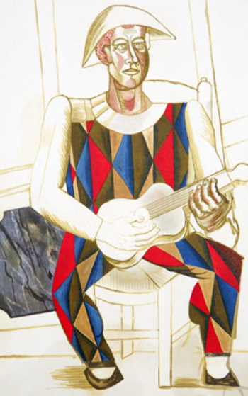 Arlequin a La Guitare  Limited Edition Print by  Picasso Estate Signed Editions