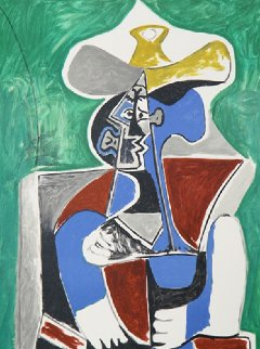 Buste Au Chapeau Jaune Et Gris  Limited Edition Print -  Picasso Estate Signed Editions