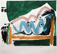 Ne Allongee Et Tete D'homme De Profil  Limited Edition Print by  Picasso Estate Signed Editions - 1