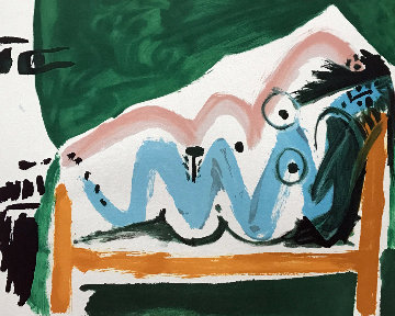 Ne Allongee Et Tete D\'homme De Profil  Limited Edition Print -  Picasso Estate Signed Editions
