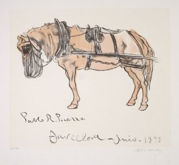 Cheval Attele  Limited Edition Print -  Picasso Estate Signed Editions