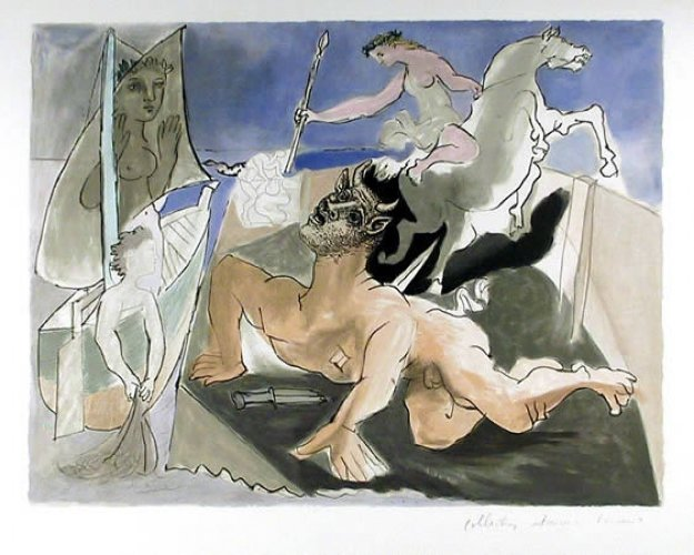 Composition Limited Edition Print by  Picasso Estate Signed Editions