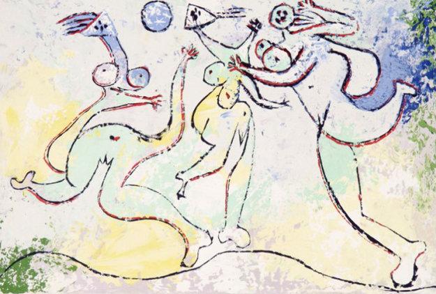 Trois Femmes Jouant Au Balloon Sur La Plage Limited Edition Print by  Picasso Estate Signed Editions