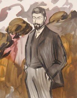 Portrait D'un Homme Debout Avec Barbicne Limited Edition Print by  Picasso Estate Signed Editions