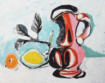 Nature Morte Au Citron Et Un Pichet Rouge Limited Edition Print by  Picasso Estate Signed Editions