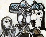 Couple Et Enfant Au Rameau D'olivier Limited Edition Print by  Picasso Estate Signed Editions - 0