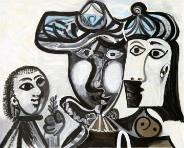 Couple Et Enfant Au Rameau D'olivier Limited Edition Print by  Picasso Estate Signed Editions