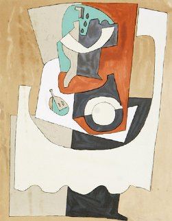 Nature Morte Au Gueridon Et a l'Assiette  Limited Edition Print -  Picasso Estate Signed Editions