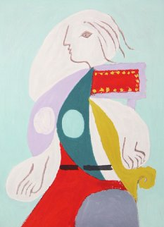 Femme a La Robe Multicolore Limited Edition Print by  Picasso Estate Signed Editions