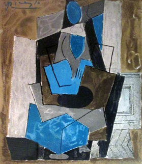 Femme Assise Limited Edition Print -  Picasso Estate Signed Editions