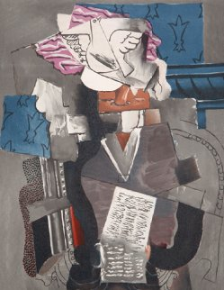 Personnage Et Colombe Limited Edition Print by  Picasso Estate Signed Editions