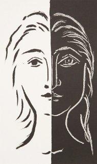 Portrait En Deux Parties Noire Et Blanche Limited Edition Print by  Picasso Estate Signed Editions