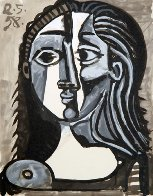 Tete De Femme Limited Edition Print by  Picasso Estate Signed Editions - 0