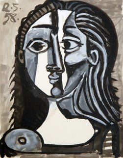Tete De Femme Limited Edition Print by  Picasso Estate Signed Editions