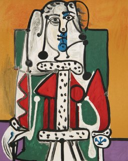 Femme Assise a La Robe D'hermine Limited Edition Print by  Picasso Estate Signed Editions