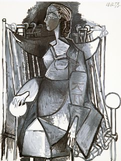 Femme Assise Dans Un Fauteuil Tresse Limited Edition Print by  Picasso Estate Signed Editions