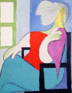 Femme Assise Pres D'une Fenetre AP Limited Edition Print -  Picasso Estate Signed Editions