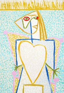 Femme Au Buste En Coeur Limited Edition Print by  Picasso Estate Signed Editions