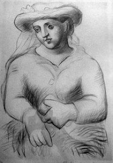 Femme Au Chapeau Et Au Missel Limited Edition Print by  Picasso Estate Signed Editions