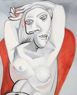 Femme Au Fauteuil Rouge 1939 Limited Edition Print by  Picasso Estate Signed Editions