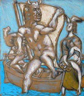 Femme Et Minotaure Limited Edition Print -  Picasso Estate Signed Editions