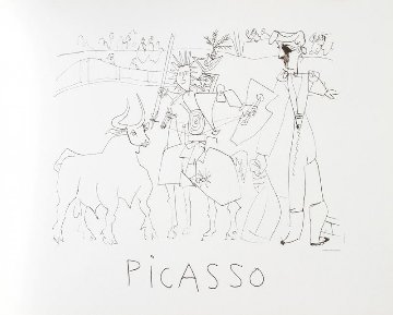 Chevalier Picador Dans L' Arene  Limited Edition Print by  Picasso Estate Signed Editions