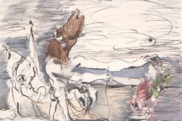 Minotaure Aveugle Conduit Par Une Petite Fille Limited Edition Print by  Picasso Estate Signed Editions