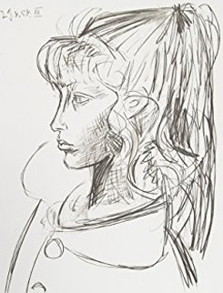 Sylvette De Profil Gouche Limited Edition Print by  Picasso Estate Signed Editions