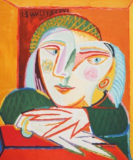 Femme Accoudee a Sa Fenetre Limited Edition Print -  Picasso Estate Signed Editions