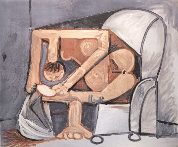 Femme a La Toilette Limited Edition Print by  Picasso Estate Signed Editions