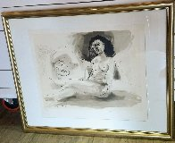 Hommes Couchee Femme Assise Limited Edition Print by  Picasso Estate Signed Editions - 1