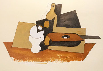 Guitare Verre Et Bouteille  Limited Edition Print by  Picasso Estate Signed Editions