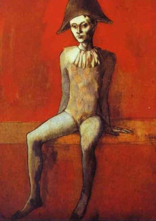 Arlequin Assis Sur Un Canape Rouge (Harlequin Sitting on a Red Couch) Limited Edition Print by  Picasso Estate Signed Editions