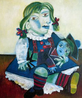 Maya With Doll Limited Edition Print by  Picasso Estate Signed Editions