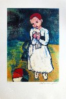 Child Holding a Dove Limited Edition Print by  Picasso Estate Signed Editions - 1
