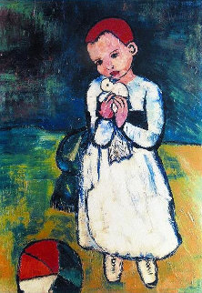 Child Holding a Dove Limited Edition Print -  Picasso Estate Signed Editions