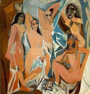 Les Demoiselles D' Avignon 1907 Limited Edition Print -  Picasso Estate Signed Editions