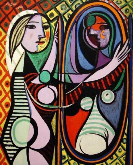 Girl Before a Mirror Limited Edition Print by  Picasso Estate Signed Editions