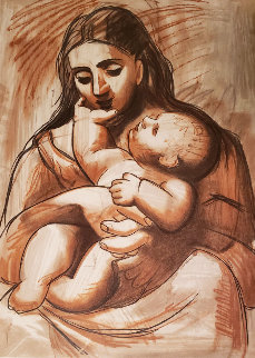 Mere Et Enfant  Limited Edition Print by  Picasso Estate Signed Editions