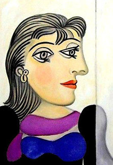 Buste De Femme Au Foulard Mauve   Limited Edition Print -  Picasso Estate Signed Editions