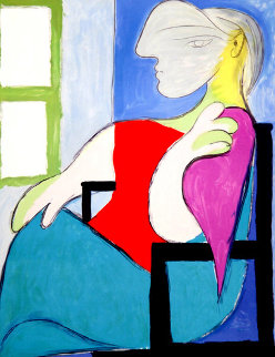Femme Assise Pres D'une Fenetre  Limited Edition Print by  Picasso Estate Signed Editions