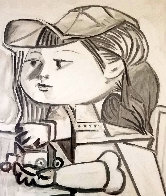 Buste De Petite Fille  Limited Edition Print by  Picasso Estate Signed Editions - 0