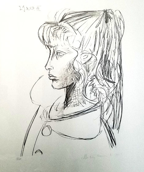 Sylvette De Profil Gouche 1979 Limited Edition Print by  Picasso Estate Signed Editions