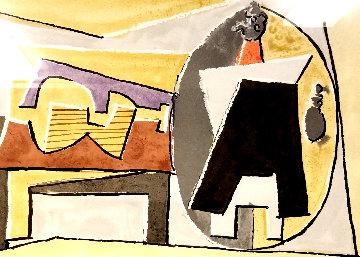 Nature Morte a La Guitare Et Pulcinella  Limited Edition Print by  Picasso Estate Signed Editions