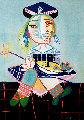 La Fille De l'artiste a Deux Ans Et Demi Avec Un Bateau  Limited Edition Print -  Picasso Estate Signed Editions