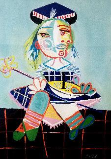 La Fille De l'artiste a Deux Ans Et Demi Avec Un Bateau  Limited Edition Print by  Picasso Estate Signed Editions