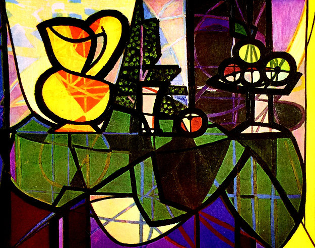 Pitcher and Bowl of Fruit Estate 1910 Limited Edition Print by  Picasso Estate Signed Editions