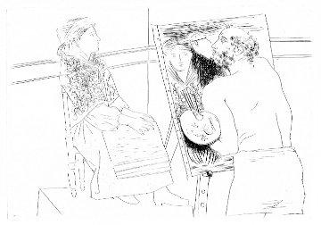 Peintre Chauve Devant Son Chevalet 1927 Limited Edition Print by  Picasso Estate Signed Editions